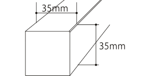 35角サイズ Eee-Louver(イールーバー)の断面図